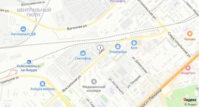 Купить производственное помещение 1293 м<sup>2</sup> в Комсомольске-на-Амуре по адресу Россия, Хабаровский край, Комсомольск-на-Амуре, Вокзальная улица, 32