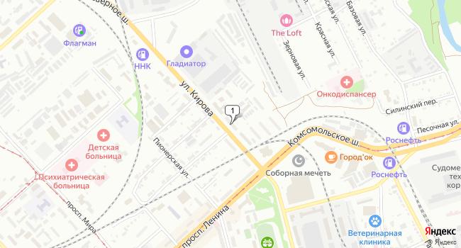 Купить торговую площадь 528 м<sup>2</sup> в Комсомольске-на-Амуре по адресу Россия, Хабаровский край, Комсомольск-на-Амуре, улица Кирова, 70