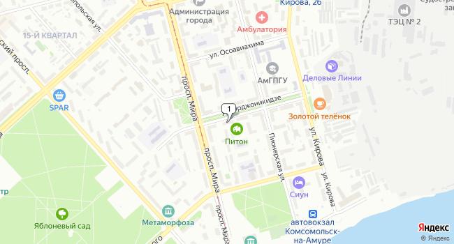 Купить производственное помещение 600 м<sup>2</sup> в Комсомольске-на-Амуре по адресу Россия, Хабаровский край, Комсомольск-на-Амуре, улица Орджоникидзе, 11