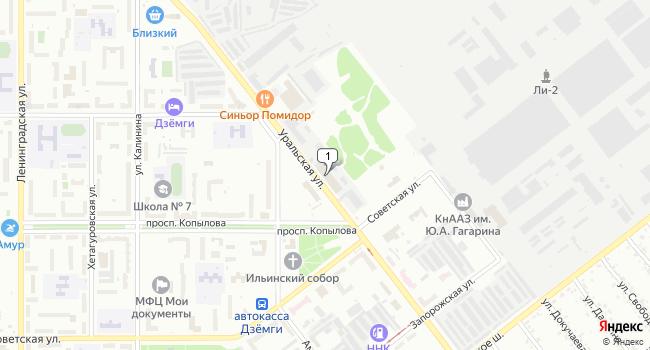 Купить производственное помещение 400 м<sup>2</sup> в Комсомольске-на-Амуре по адресу Россия, Хабаровский край, Комсомольск-на-Амуре, Уральская улица, 16
