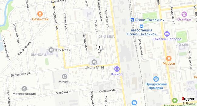 Арендовать склад 1000 м<sup>2</sup> в Южно-Сахалинске по адресу Россия, Сахалинская область, Южно-Сахалинск, Тихая улица, 104