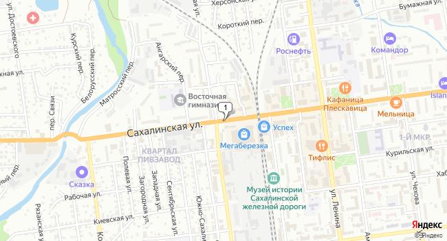 Купить коммерческую недвижимость 155 м<sup>2</sup> в Южно-Сахалинске по адресу Россия, Сахалинская область, Южно-Сахалинск, Сахалинская улица