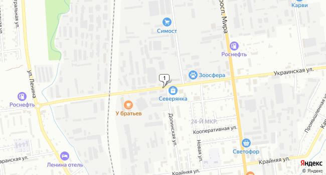 Арендовать торговую площадь 666 м<sup>2</sup> в Южно-Сахалинске по адресу Россия, Сахалинская область, Южно-Сахалинск, Украинская улица