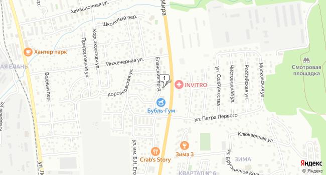 Купить торговую площадь 614 м<sup>2</sup> в Южно-Сахалинске по адресу Россия, Сахалинская область, Южно-Сахалинск, планировочный район Большая Елань, Еланский проезд, 5