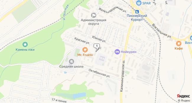 Купить торговую площадь 116 м<sup>2</sup> в Пионерском по адресу Россия, Калининградская область, Пионерский, Красная улица, 1А