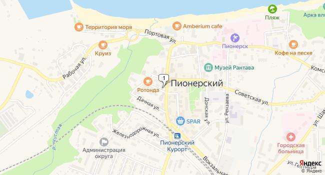 Купить офис 706 м<sup>2</sup> в Пионерском по адресу Россия, Калининградская область, Пионерский, Комсомольская улица, 6