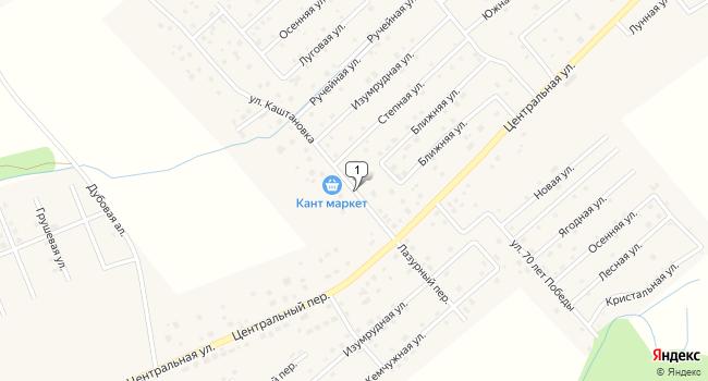 Купить земельный участок 619 м<sup>2</sup> в Гурьевском по адресу Россия, Калининградская область, Гурьевский городской округ, поселок Заозерье, улица Каштановка