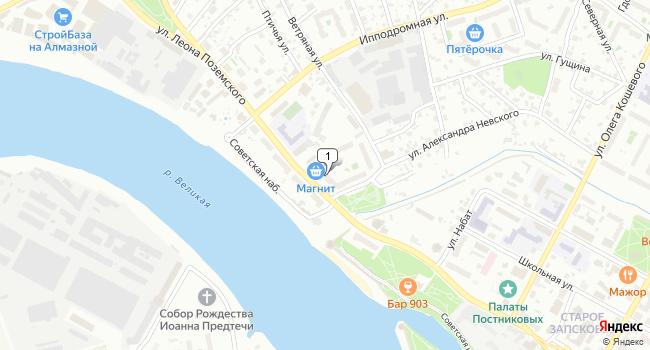Арендовать торговую площадь 820 м<sup>2</sup> в Пскове по адресу Россия, Псков, улица Леона Поземского, 61