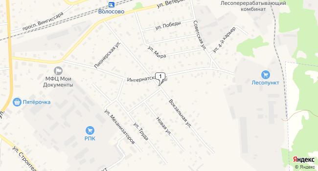 Купить склад 1478 м<sup>2</sup> в Волосово по адресу Россия, Ленинградская область, Волосово, Вокзальная улица