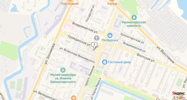 Арендовать офис 52 м<sup>2</sup> в Кронштадте по адресу Россия, Санкт-Петербург, Кронштадт, проспект Ленина, 13
