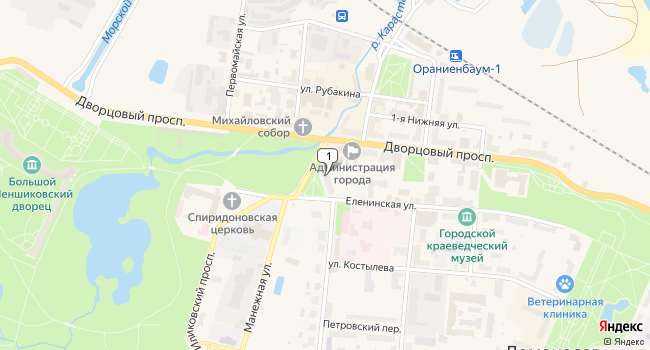 Арендовать торговую площадь 80 м<sup>2</sup> в Ломоносове по адресу Россия, Санкт-Петербург, Петродворцовый район, Ломоносов, Еленинская улица, 4