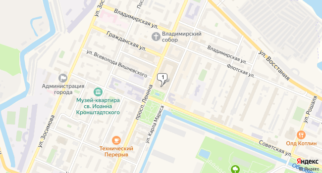 Арендовать торговую площадь 10 м<sup>2</sup> в Кронштадте по адресу Россия, Санкт-Петербург, Кронштадт, проспект Ленина, 16А