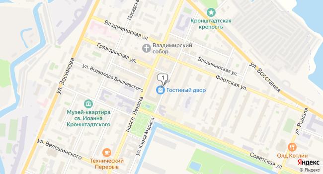 Арендовать торговую площадь 15 м<sup>2</sup> в Кронштадте по адресу Россия, Санкт-Петербург, Кронштадт, проспект Ленина, 16