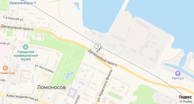 Арендовать склад 300 м<sup>2</sup> в Ломоносове по адресу Россия, Санкт-Петербург, Ломоносов, Дворцовый проспект, 9