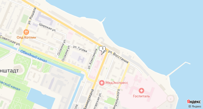 Арендовать торговую площадь 271 м<sup>2</sup> в Кронштадте по адресу Россия, Санкт-Петербург, Кронштадт, улица Комсомола, 2