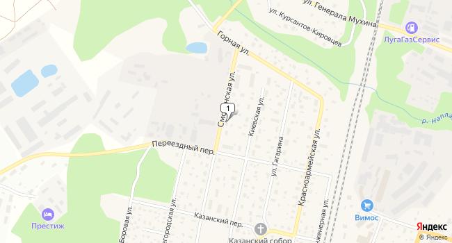 Арендовать торговую площадь 1072 м<sup>2</sup> в Луге по адресу Россия, Ленинградская область, Луга, Смоленская улица, 10