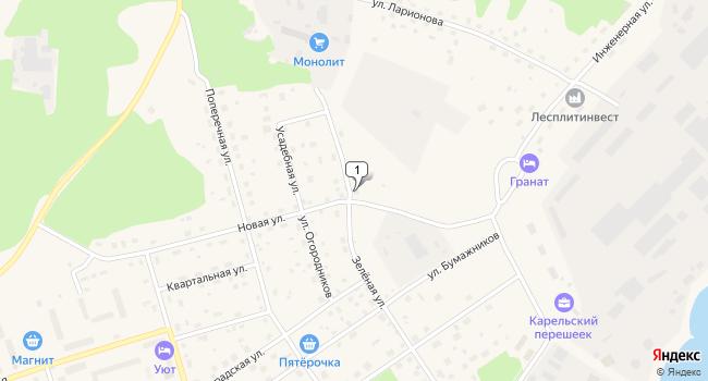 Купить торговую площадь 9016 м<sup>2</sup> в Приозерске по адресу Россия, Ленинградская область, Приозерск, Новая улица, 1