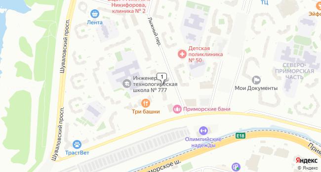 Арендовать торговую площадь 163 м<sup>2</sup> в Санкт-Петербурге по адресу Россия, Санкт-Петербург, Лыжный переулок, 2
