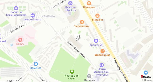 Арендовать торговую площадь 640 м<sup>2</sup> в Санкт-Петербурге по адресу Россия, Санкт-Петербург, Нижне-Каменская улица, 7к1