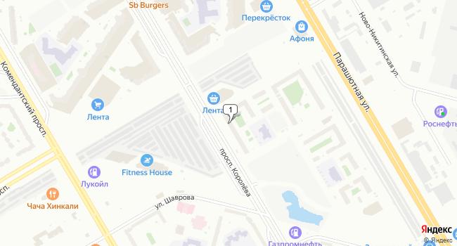 Арендовать торговую площадь 194 м<sup>2</sup> в Санкт-Петербурге по адресу Россия, Санкт-Петербург, проспект Королева, 59к1