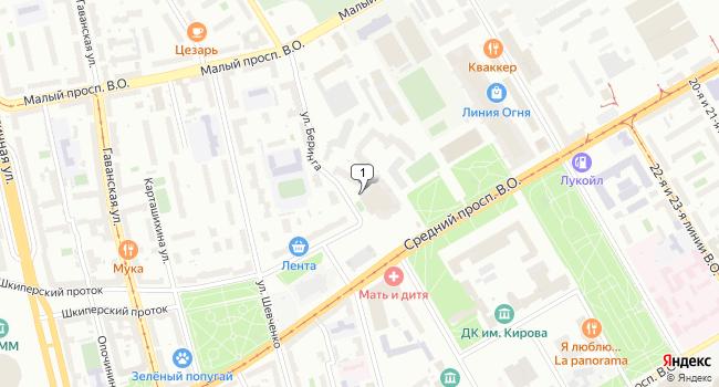 Арендовать торговую площадь 70 м<sup>2</sup> в Санкт-Петербурге по адресу Россия, Санкт-Петербург, улица Беринга, 1
