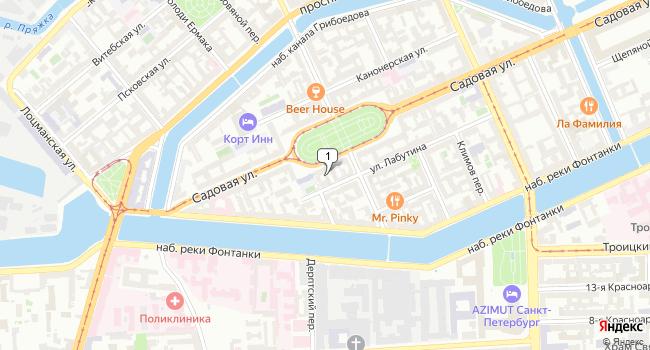 Арендовать офис 166 м<sup>2</sup> в Санкт-Петербурге по адресу Россия, Санкт-Петербург, Садовая улица, 104