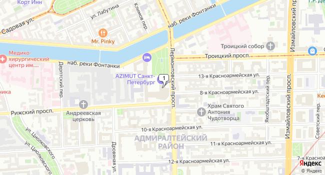 Арендовать офис 116 м<sup>2</sup> в Санкт-Петербурге по адресу Россия, Санкт-Петербург, Лермонтовский проспект, 43
