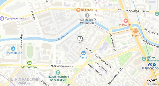 Арендовать офис 169 м<sup>2</sup> в Санкт-Петербурге по адресу Россия, Санкт-Петербург, улица Всеволода Вишневского, 12А