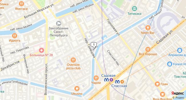 Арендовать торговую площадь 90 м<sup>2</sup> в Санкт-Петербурге по адресу Россия, Санкт-Петербург, переулок Гривцова, 16