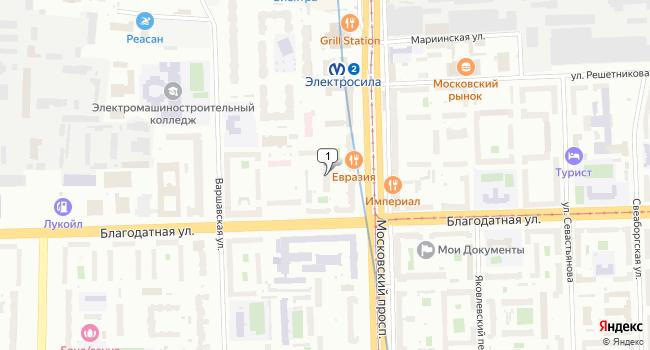 Арендовать коммерческую недвижимость 140 м<sup>2</sup> в Санкт-Петербурге по адресу Россия, Санкт-Петербург, Благодатная улица, 24