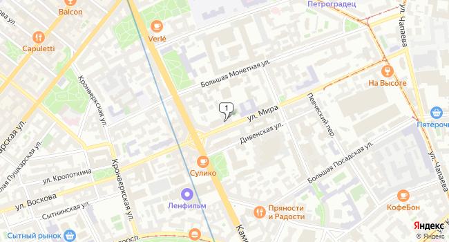 Арендовать склад 200 м<sup>2</sup> в посёлке Левашово по адресу Россия, Санкт-Петербург, Петроградский район, улица Мира, 16