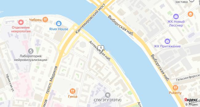 Арендовать офис 55 м<sup>2</sup> в Санкт-Петербурге по адресу Россия, Санкт-Петербург, Аптекарская набережная, 12