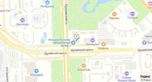 Арендовать торговую площадь 305 м<sup>2</sup> в Санкт-Петербурге по адресу Россия, Санкт-Петербург, Пулковское шоссе, 14А