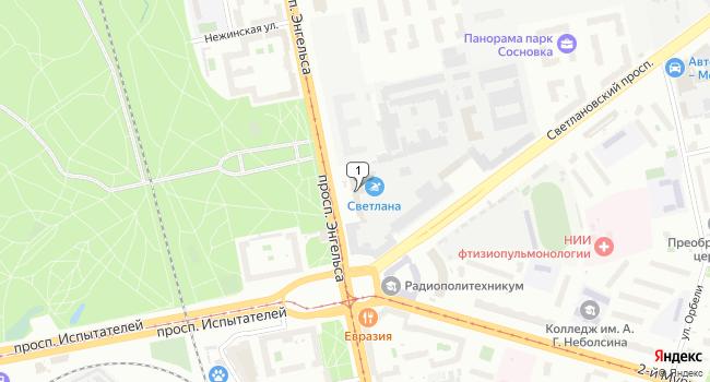 Арендовать офис 68 м<sup>2</sup> в Санкт-Петербурге по адресу Россия, Санкт-Петербург, проспект Энгельса, 27