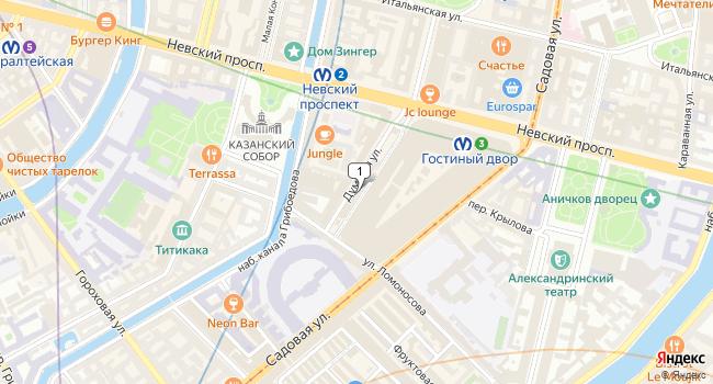 Арендовать торговую площадь 25 м<sup>2</sup> в Санкт-Петербурге по адресу Россия, Санкт-Петербург, Думская улица, 4