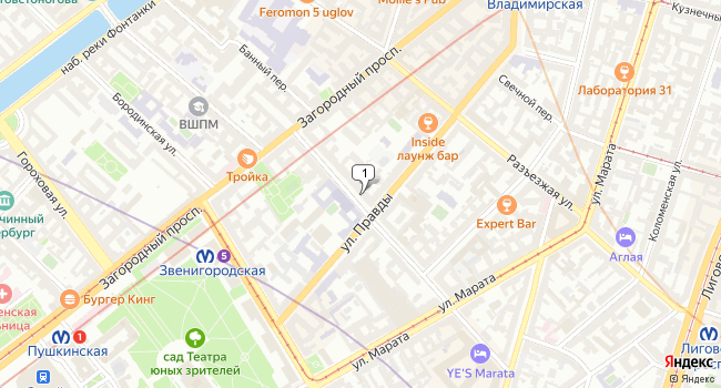 Арендовать офис 40 м<sup>2</sup> в Павловске по адресу Россия, Санкт-Петербург, Центральный район, Социалистическая улица, 10