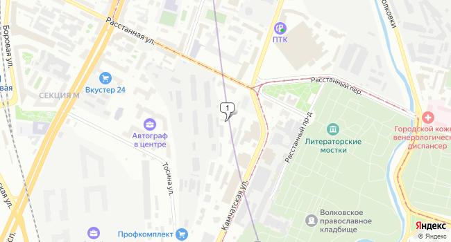 Арендовать офис 15 м<sup>2</sup> в Санкт-Петербурге по адресу Россия, Санкт-Петербург, Камчатская улица, 1