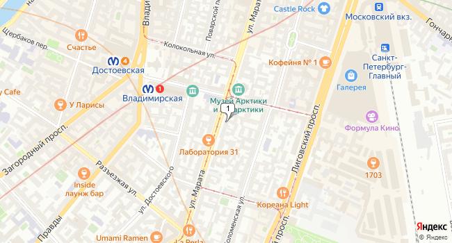 Арендовать офис 58 м<sup>2</sup> в посёлке Петро-Славянка по адресу Россия, Санкт-Петербург, Центральный район, улица Марата, 30