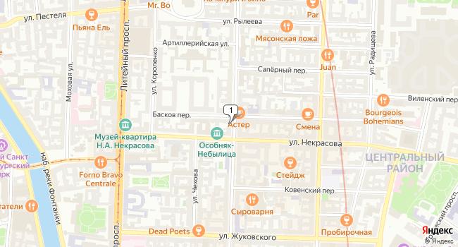 Арендовать коммерческую недвижимость 68 м<sup>2</sup> в посёлке Левашово по адресу Россия, Санкт-Петербург, Центральный район, улица Маяковского, 32