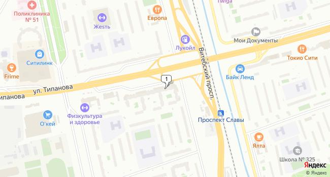 Арендовать склад 94 м<sup>2</sup> в Санкт-Петербурге по адресу Россия, Санкт-Петербург, улица Типанова, 38