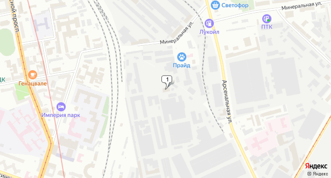 Арендовать склад 262 м<sup>2</sup> в Кронштадте по адресу Россия, Санкт-Петербург, Калининский район, улица Комсомола, 1-3АВ