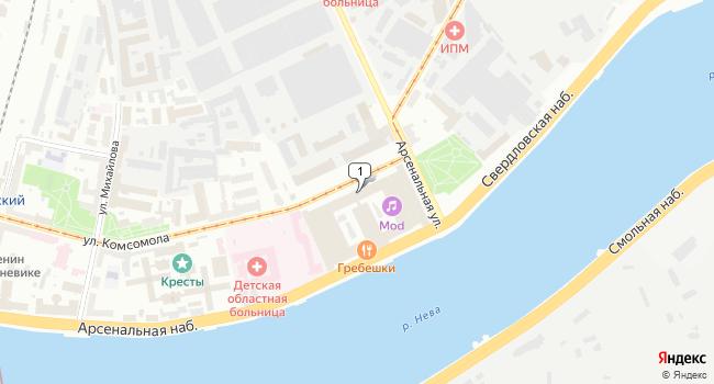 Арендовать офис 70 м<sup>2</sup> в Кронштадте по адресу Россия, Санкт-Петербург, Калининский район, улица Комсомола, 2