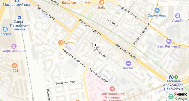 Арендовать торговую площадь 127 м<sup>2</sup> в Санкт-Петербурге по адресу Россия, Санкт-Петербург, Тележная улица, 13