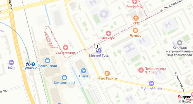 Арендовать торговую площадь 50 м<sup>2</sup> в Санкт-Петербурге по адресу Россия, Санкт-Петербург, улица Ярослава Гашека, 5
