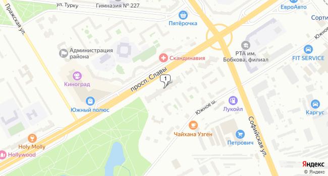 Арендовать торговую площадь 455 м<sup>2</sup> в Санкт-Петербурге по адресу Россия, Санкт-Петербург, проспект Славы, 51