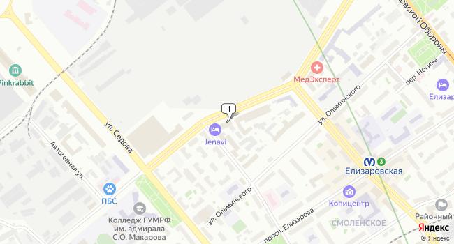 Арендовать офис 40 м<sup>2</sup> в Санкт-Петербурге по адресу Россия, Санкт-Петербург, Большой Смоленский проспект, 12