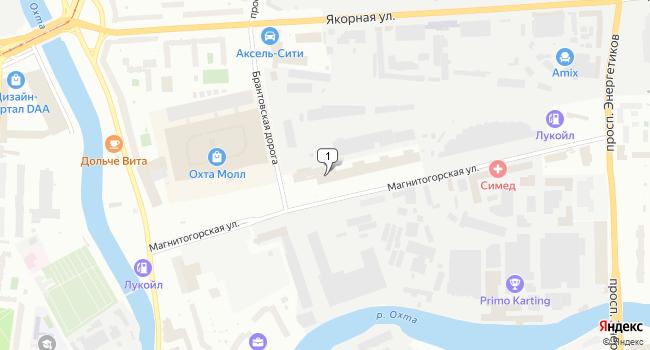 Арендовать офис 32 м<sup>2</sup> в Санкт-Петербурге по адресу Россия, Санкт-Петербург, Магнитогорская улица, 30