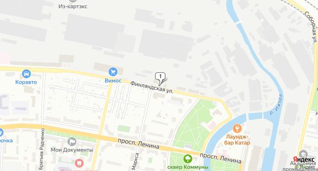 Арендовать офис 53 м<sup>2</sup> в Колпино по адресу Россия, Санкт-Петербург, Колпино, Финляндская улица, 9