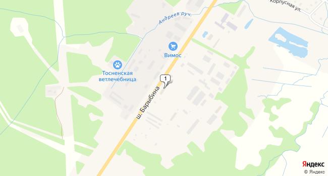 Арендовать офис 550 м<sup>2</sup> в Тосно по адресу Россия, Ленинградская область, Тосно, шоссе Барыбина, 58