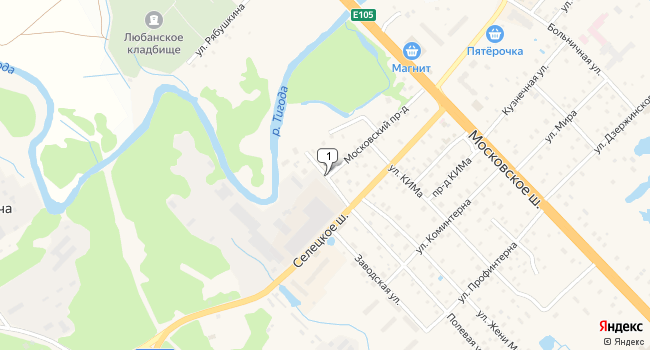 Арендовать склад 1500 м<sup>2</sup> в Любане по адресу Россия, Ленинградская область, Тосненский район, Любань, Безымянный переулок